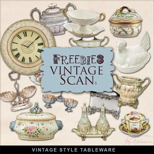 Scrap Set - Vintage Tableware