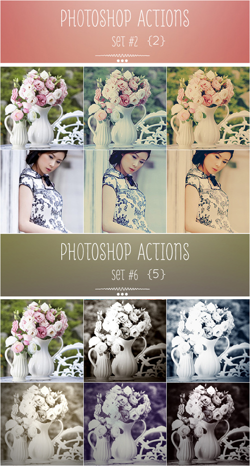 Vintage Photoshop Actions, part 2