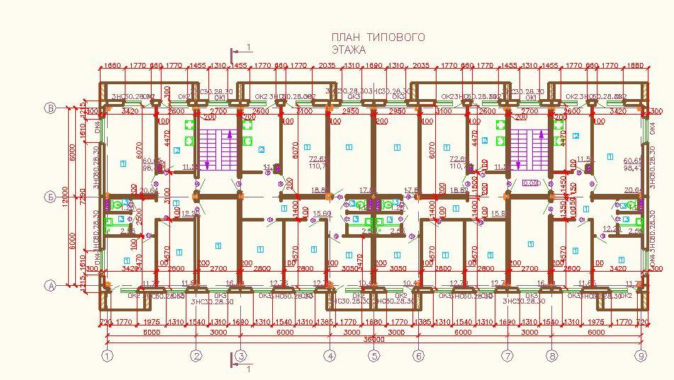 """5-этажный жилой дом (2 секции) """" купить готовую дипломную, к."""