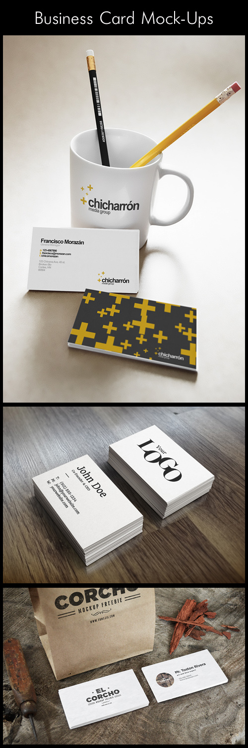 Business Card Mock-Ups, part 2