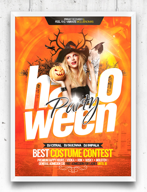 Halloween Celebration Party - Flyer PSD Template