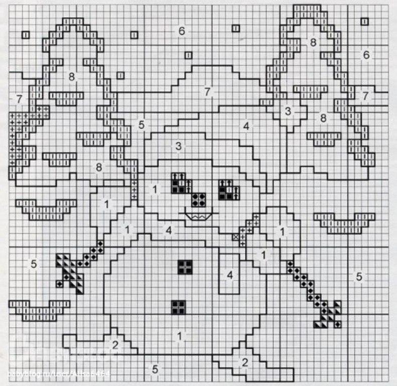 На. страничке есть несколько симпатичных схем для детского вязания, так же вы найдете другие схемы снеговиков