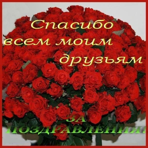 Большое всем спасибо друзьям за поздравления