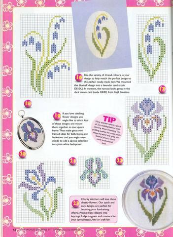 Схема вышивки крестом для броши 26