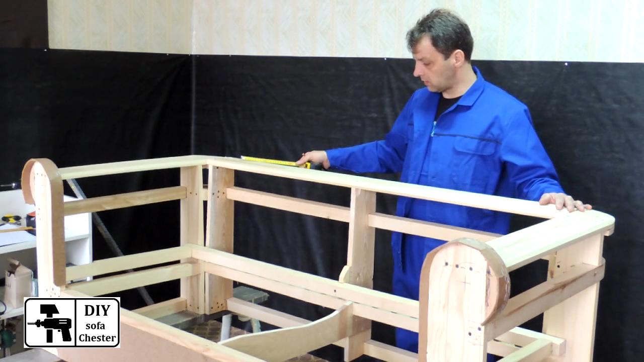 Изготовления дивана честер своими руками