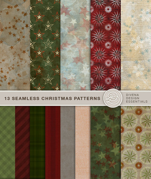 Christmas Seamless Patterns for Photoshop