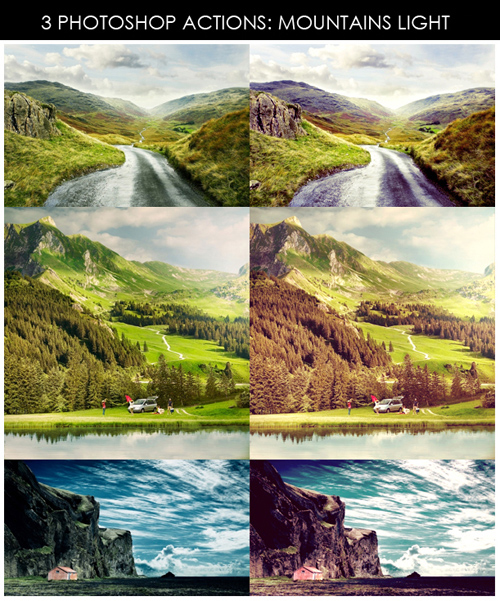 Photoshop Actions - Mountains Light
