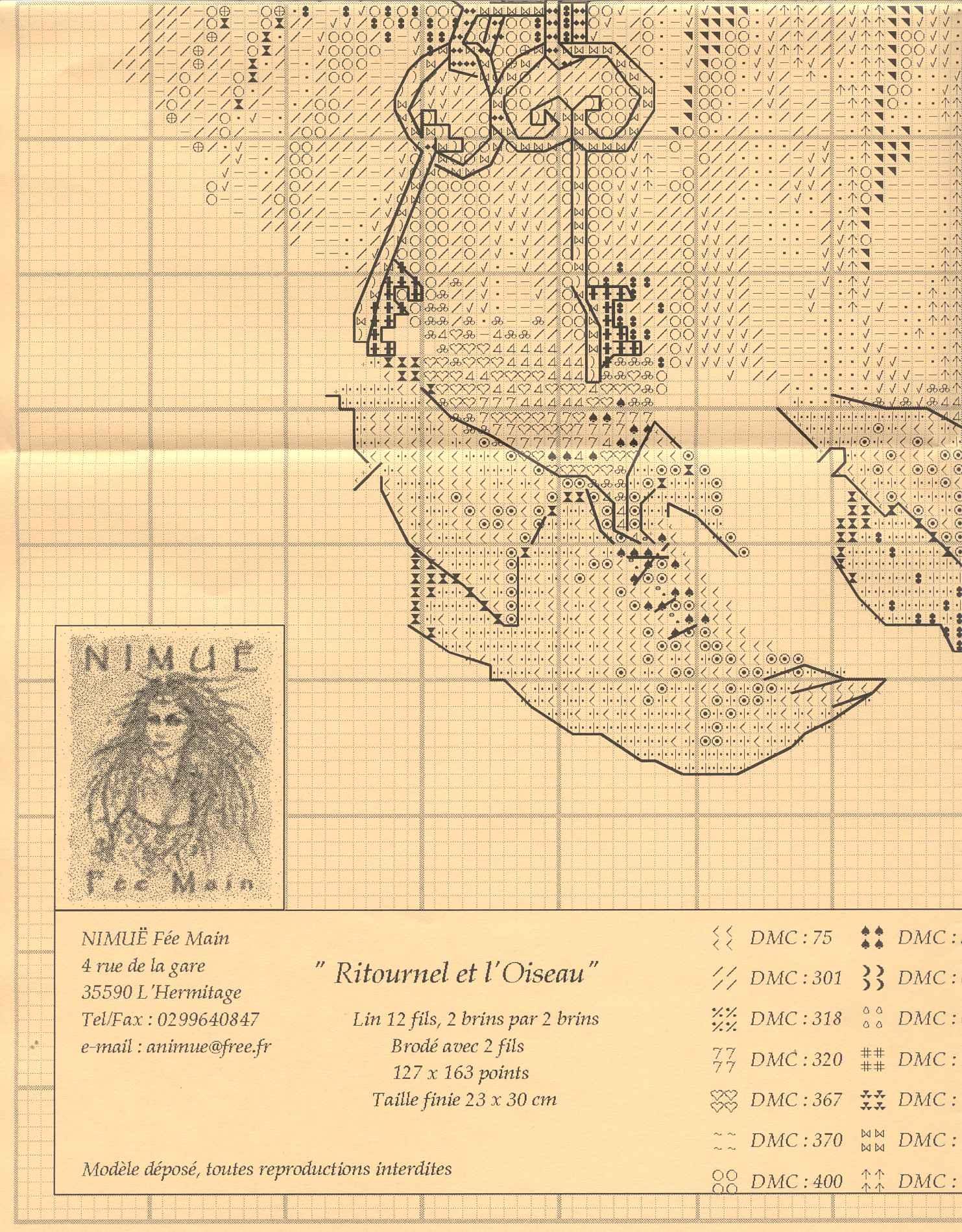 Nimue Схемы для вышивки крестом Печатная продукция 89