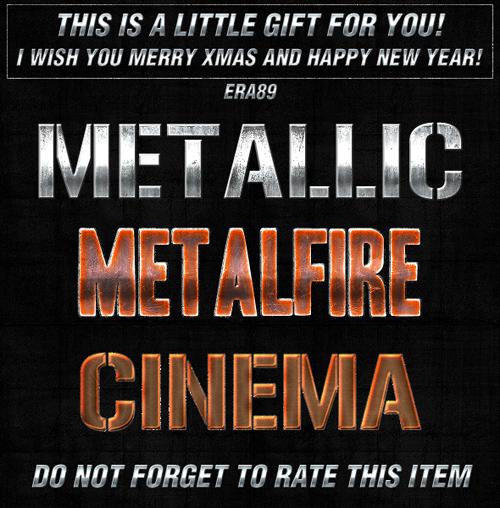 Metallic Photoshop Styles, pack 4