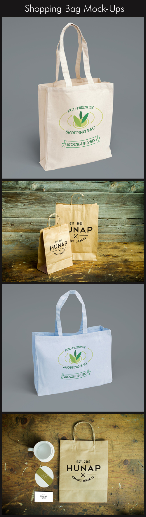 4 Shopping Bag Mock-Ups