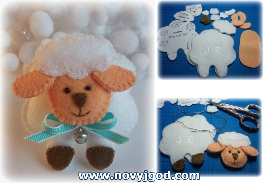 Поделка новогодняя овечка
