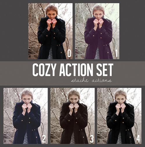 Cozy Photoshop Action Set