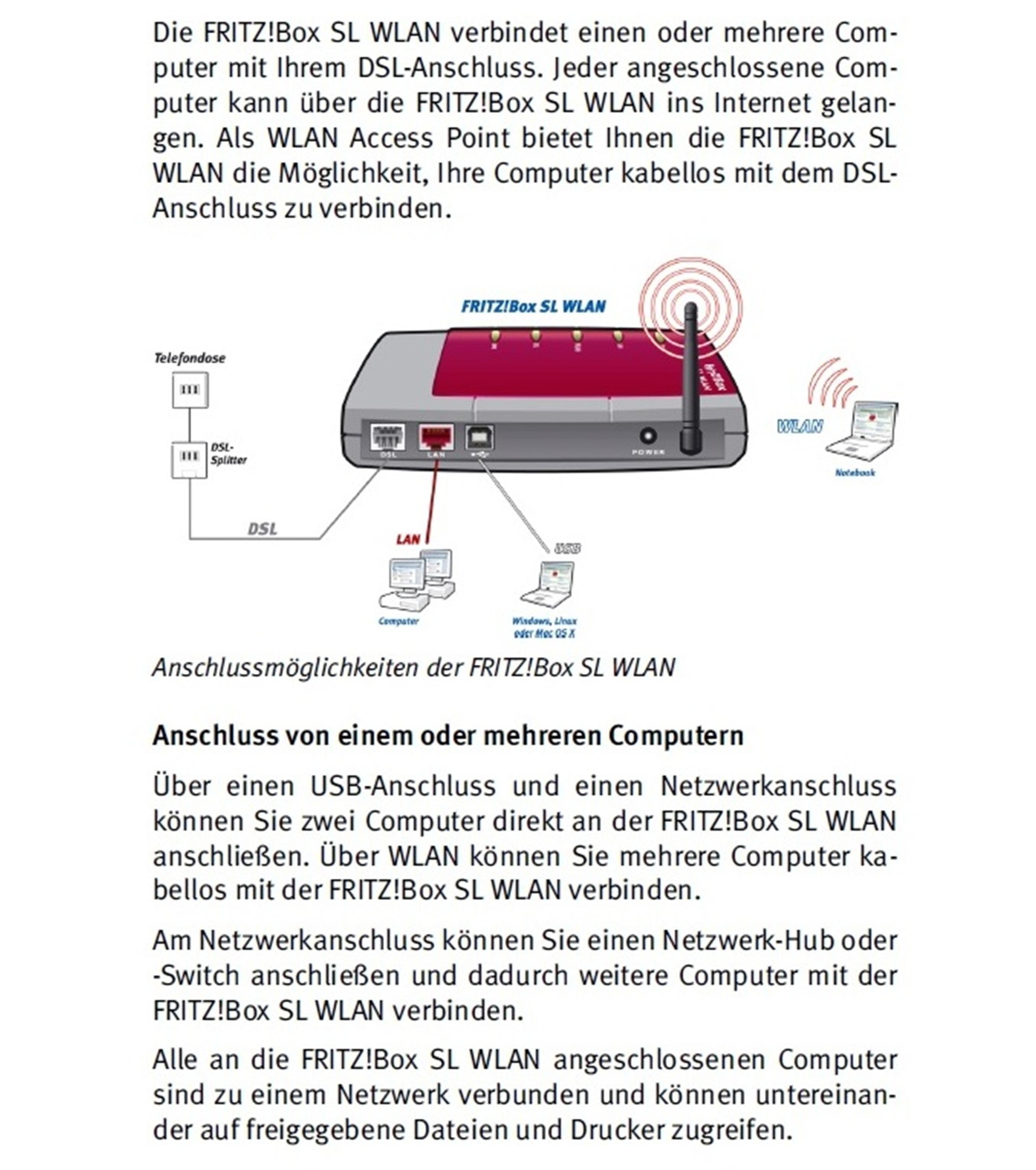 Avm fritz box sl wlan dsl modem und wlan router 16000 - Fritz box sl wlan ...