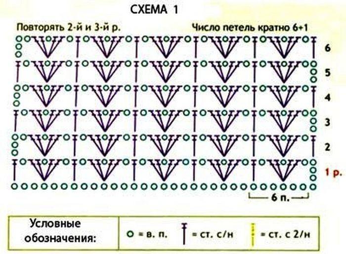 Галочка на схеме вязания 82