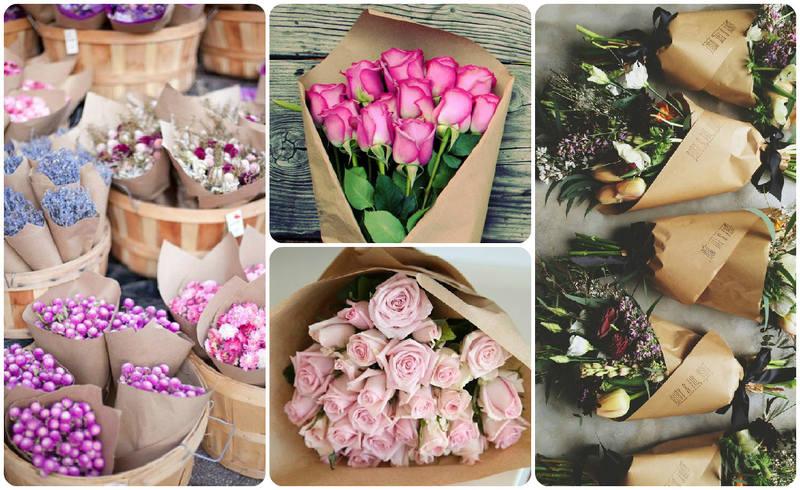 Красиво упакованные цветы фото