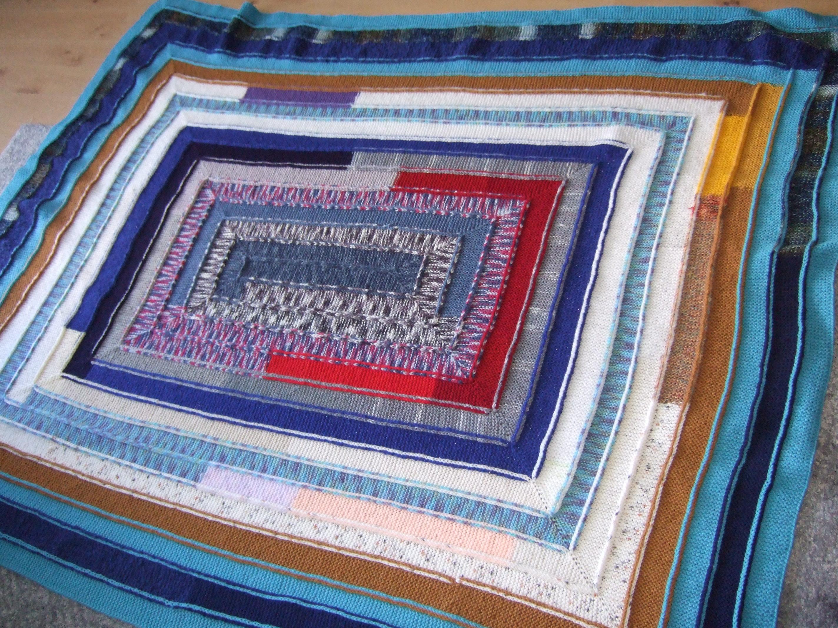 Вязание плед на 10 петлях 8