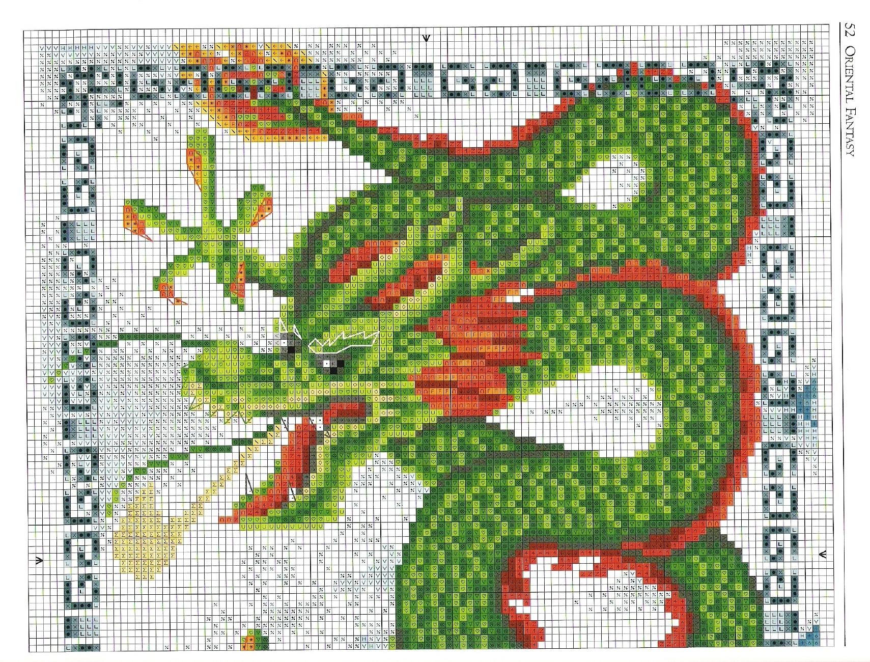 Вышивка крестом китайские драконы схемы