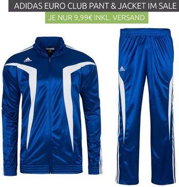 Outlet46.de - adidas Euro Club спортивная куртка и брюки по 9,99 Евро