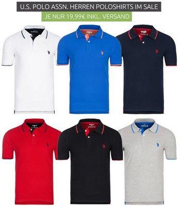 Outlet46.de - U.S. Polo мужские футболки поло по 19,99 Евро