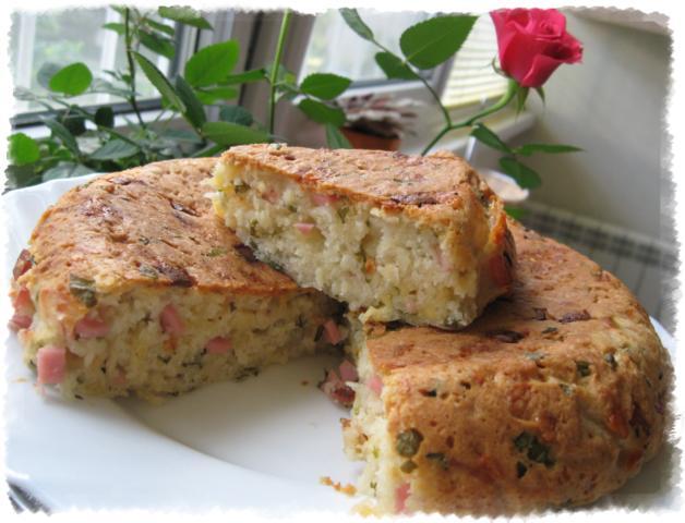 Ленивый сырный пирог на кефире