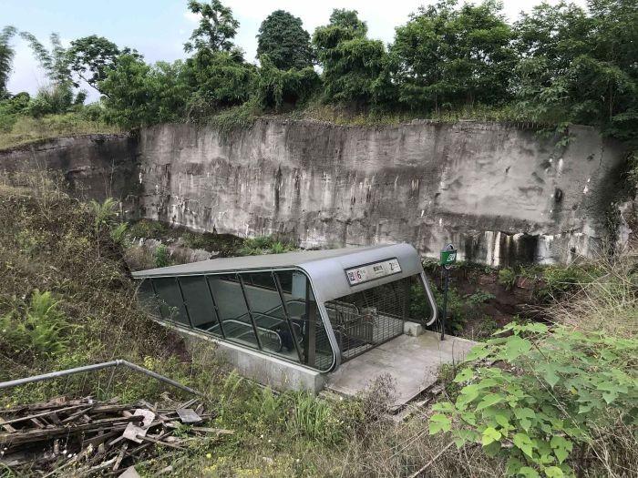 Странная станция метро в Китае