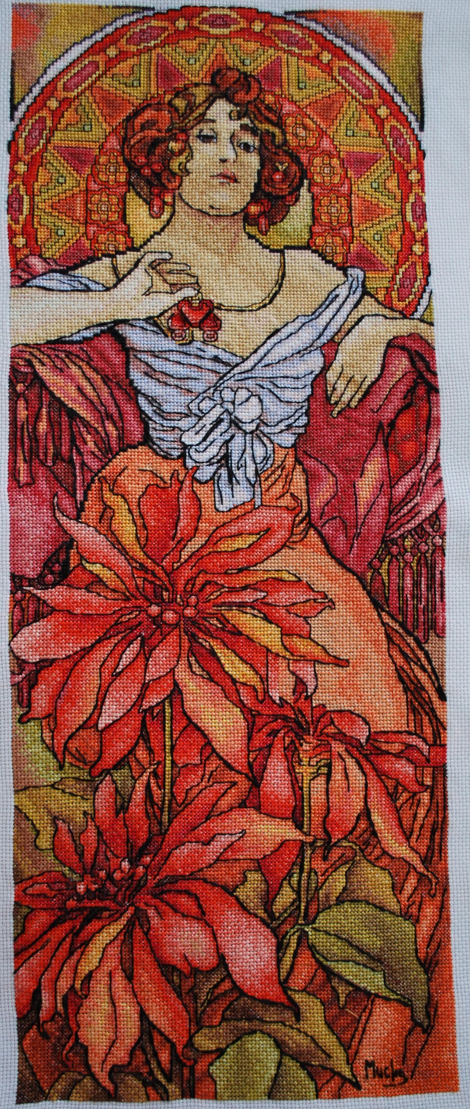 Схемы вышивки «альфонс муха» (стр. 1) - Вышивка крестом
