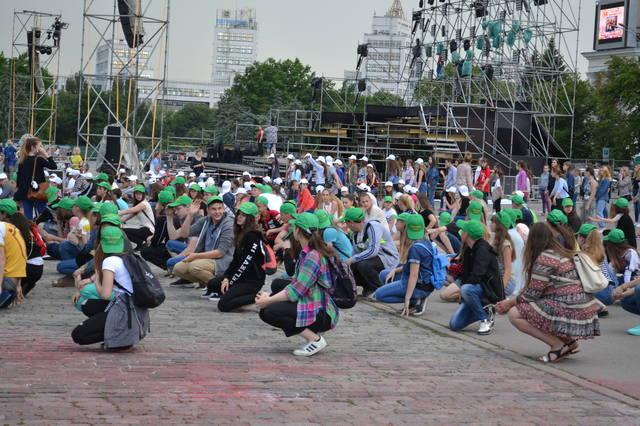На пл. Свободы проходят репетиции ко Дню защиты детей (ФОТО)