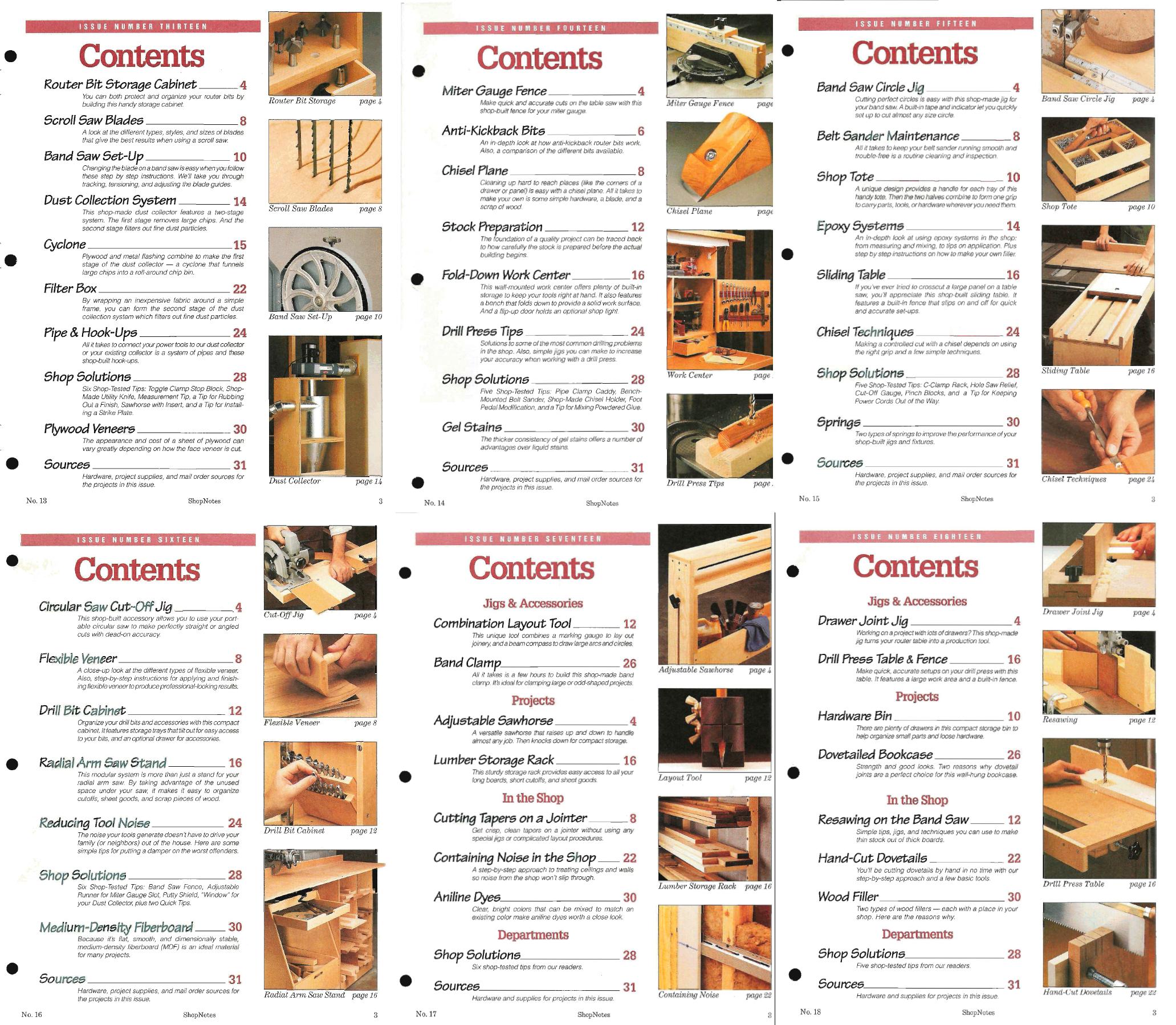 ShopNotes №№013-018 (Vol.III) 1994