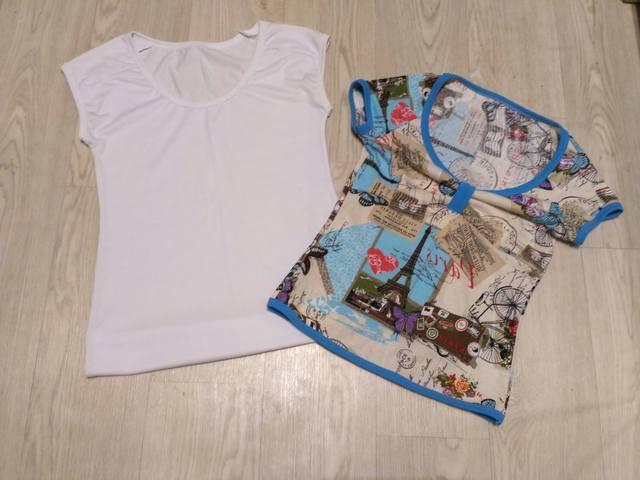 Переделки: из двух узких футболок-одну свободную. Обсуждение на 80