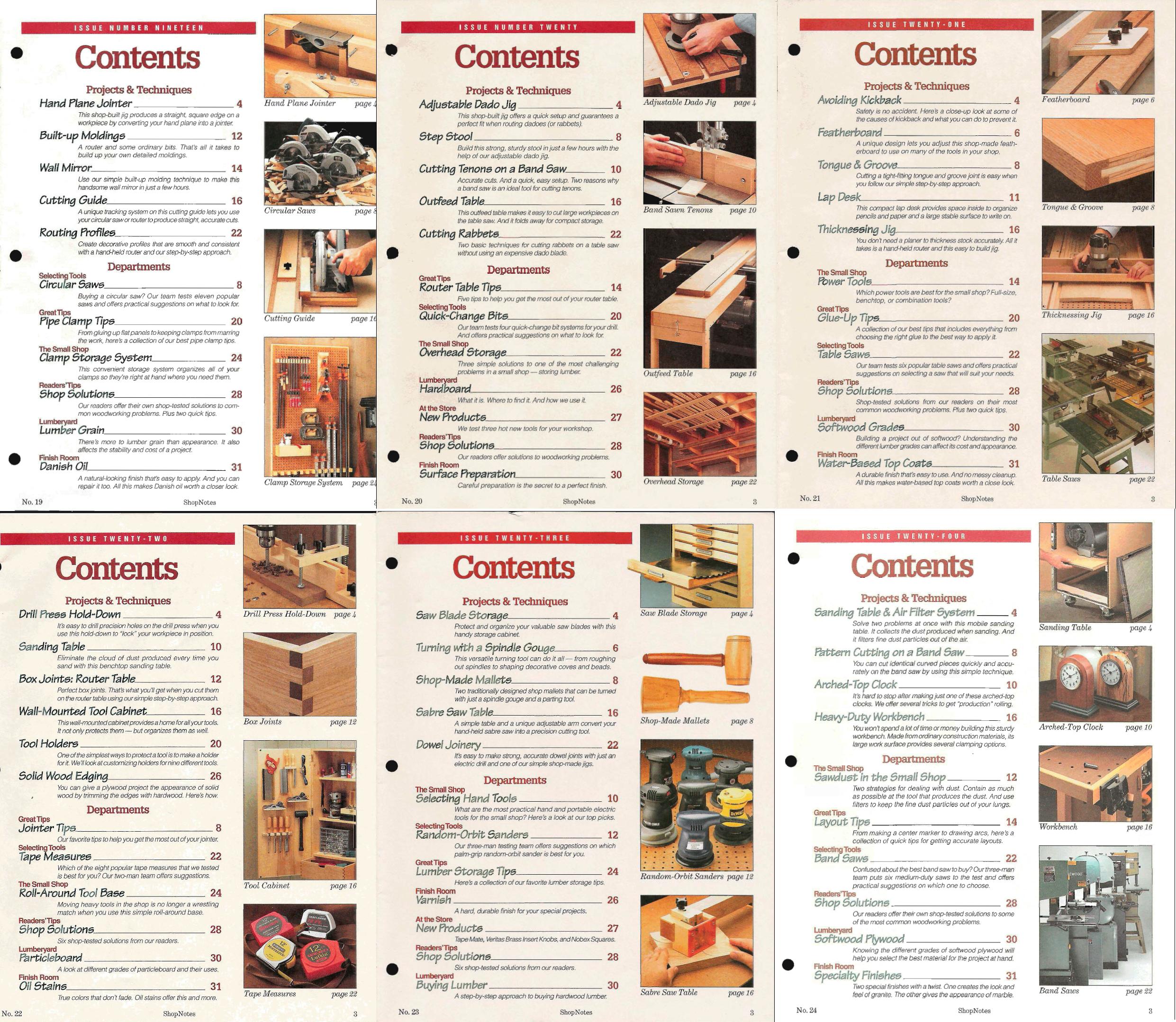 ShopNotes №№019-024 (Vol.IV) 1995