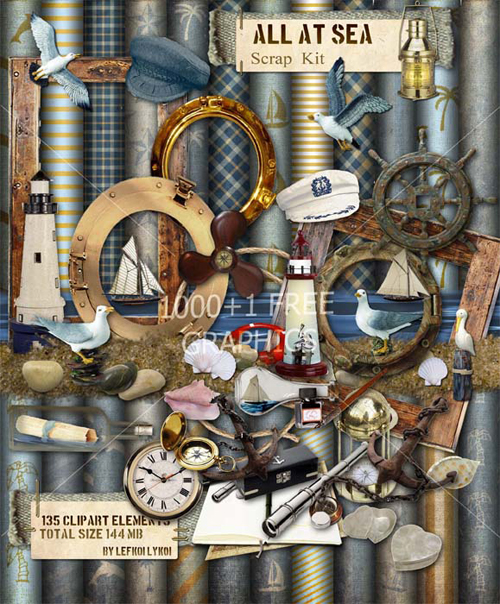 Marine Scrap Kit - All at Sea