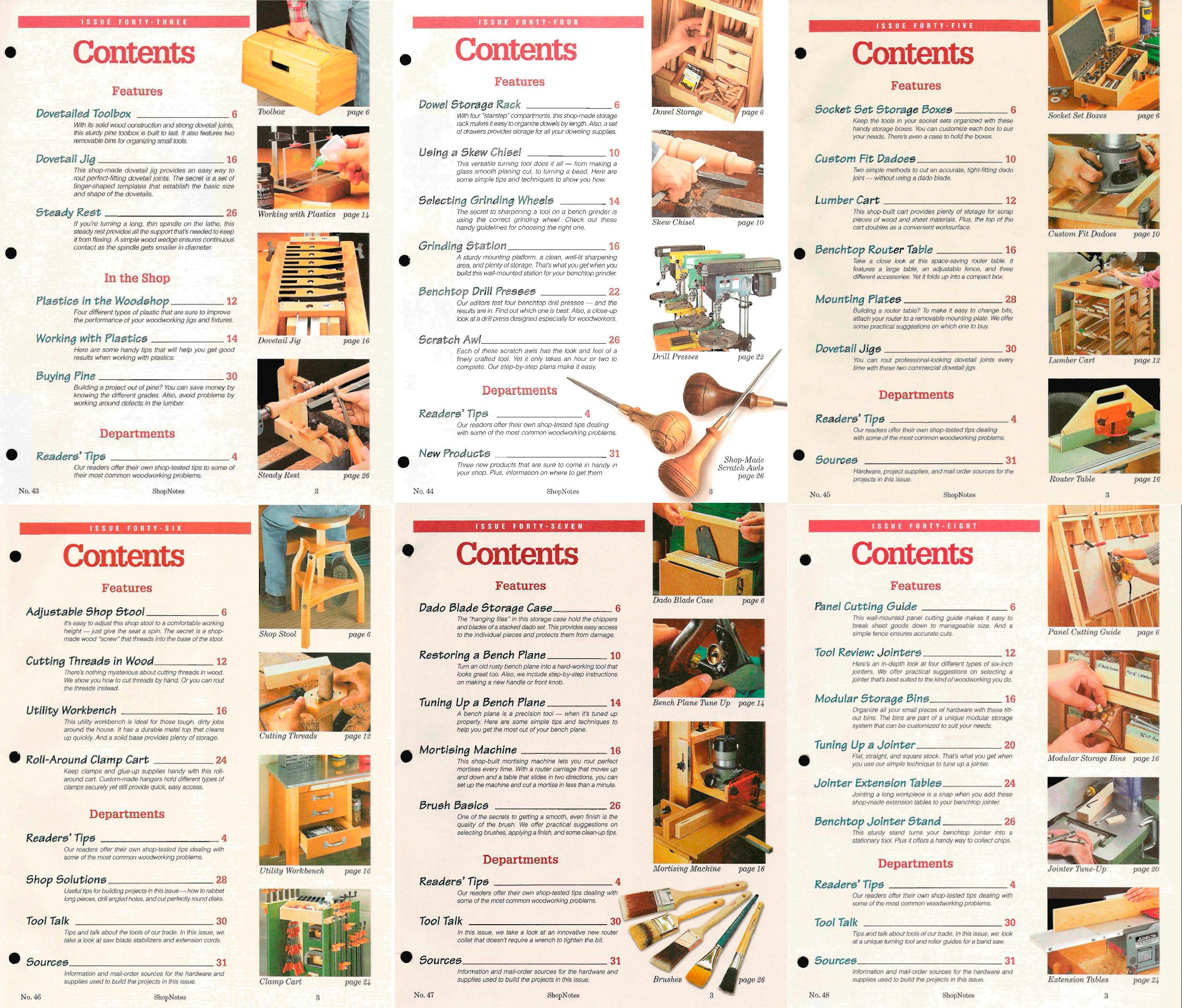 ShopNotes №№043-048 (Vol.VIII) 1999