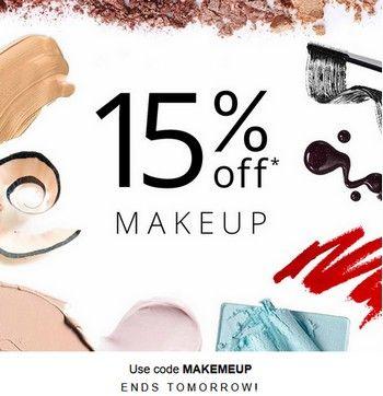 Купон feelunique.com. Дополнительная скидка 15% на Скидка 15% на makeup