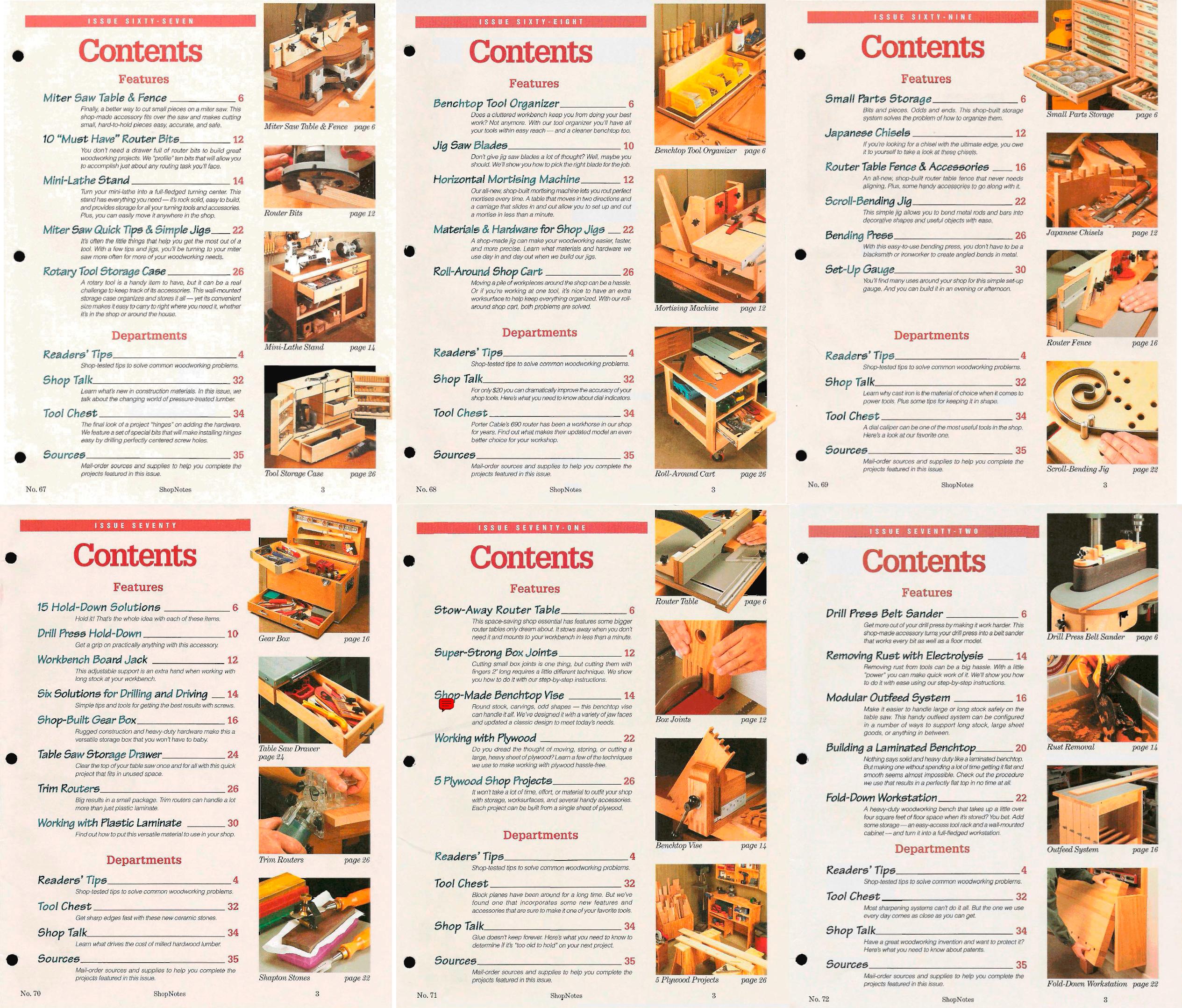 ShopNotes №№067-072 (Vol.XII) 2003