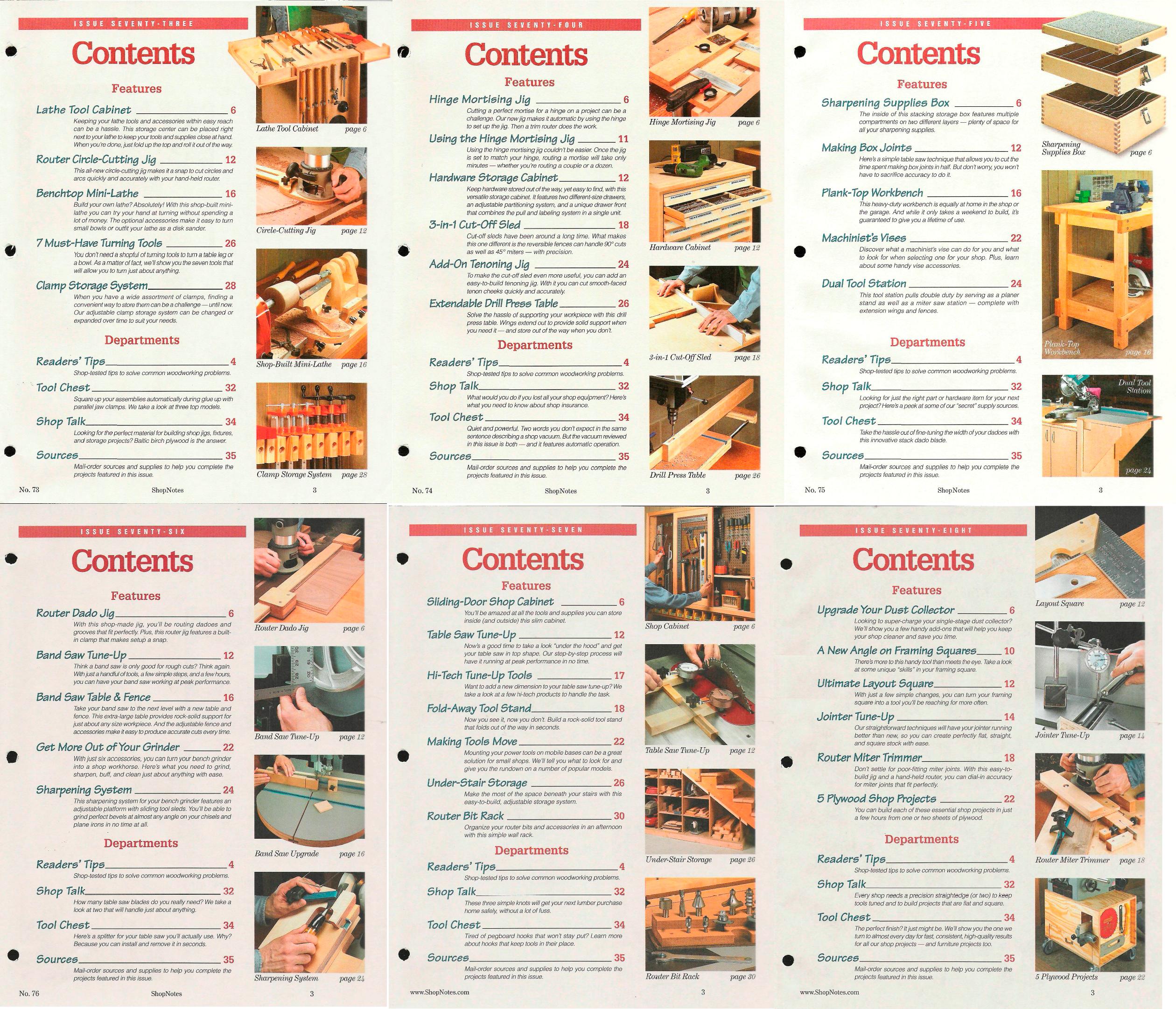 ShopNotes №№073-078 (Vol.XIII) 2004