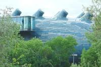 Музей современного искусства Граца возле реки. Фото Морошкина В.В.