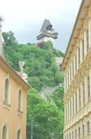 Гора Шлоссберг с башней замка на вершине. Фото Морошкина В.В.