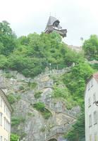 Лестница, ведущая на вершину г. Шлоссберг. Фото Морошкина В.В.