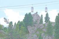 Фуникулёр, идущий на массив Сассолунго вблизи Брессалоне. Фото Морошкина В.В.