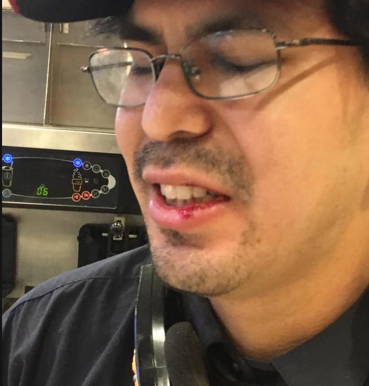 Посетитель McDonald's избил сотрудника за нерасторопность. Видео   Изображение 1