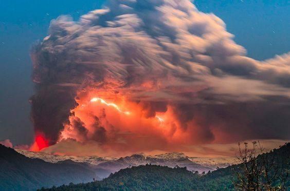 как фотографировать извержение вулкана