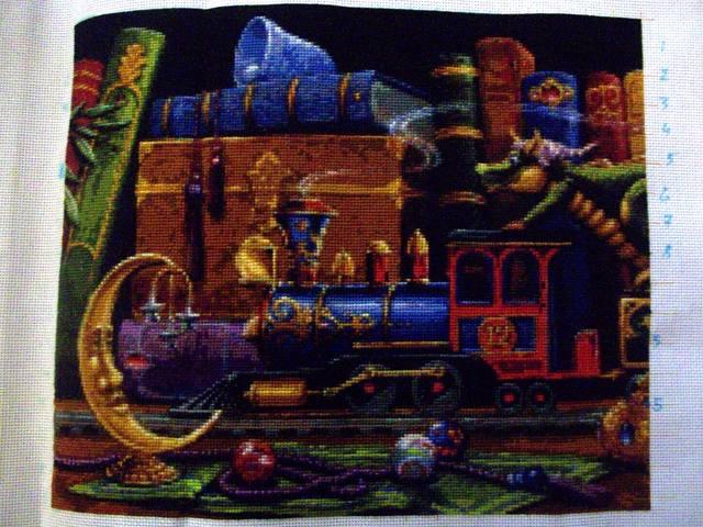 Вышивка поезд мечты схема 90