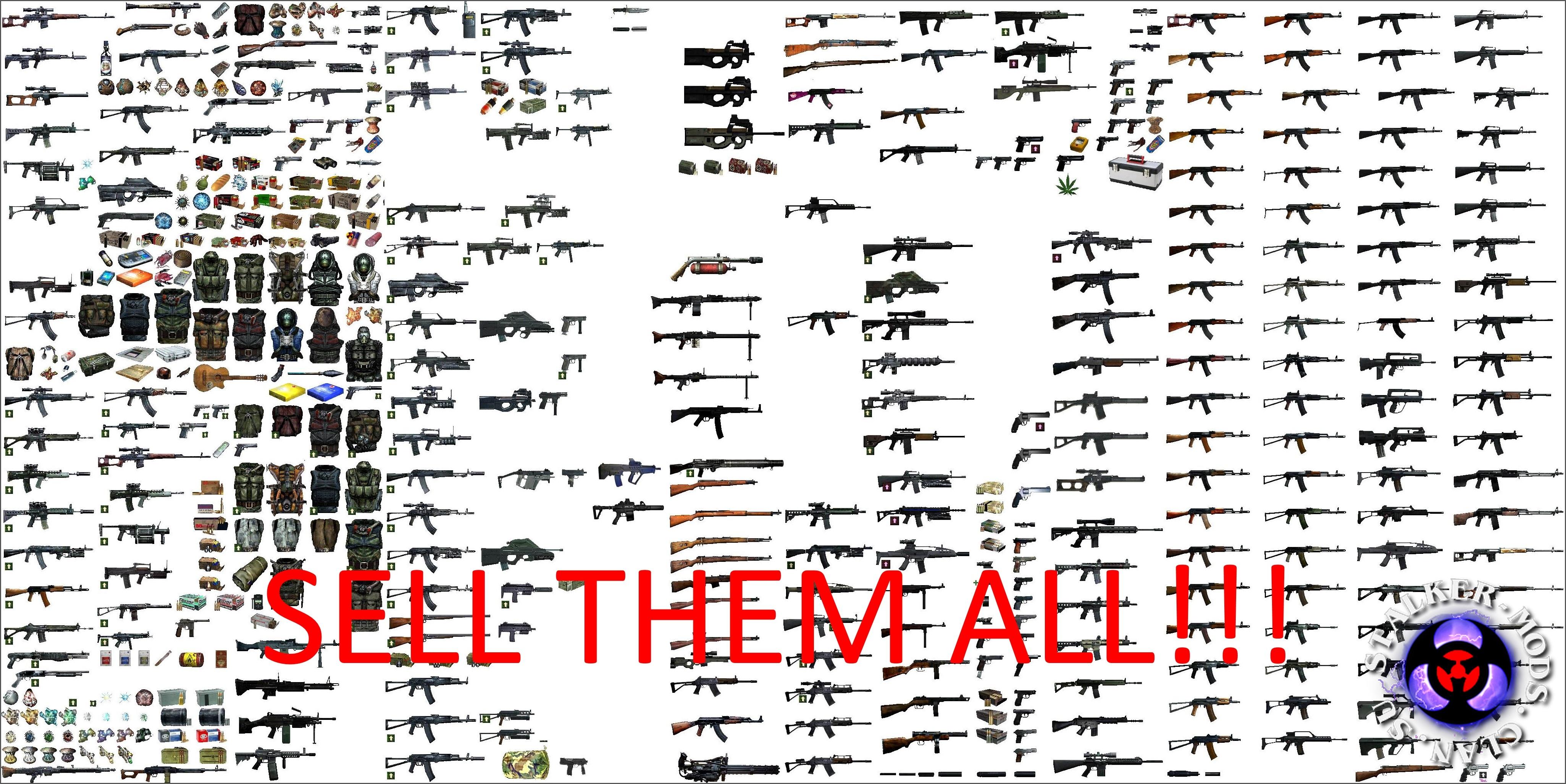 торгаши скупают поломанное оружие