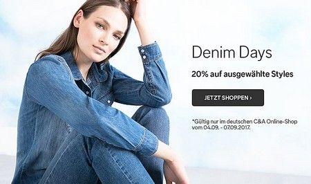 C&A. Скидка 20% на женские джинсы