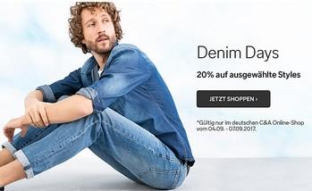 C&A. Скидка 20% на мужские джинсы