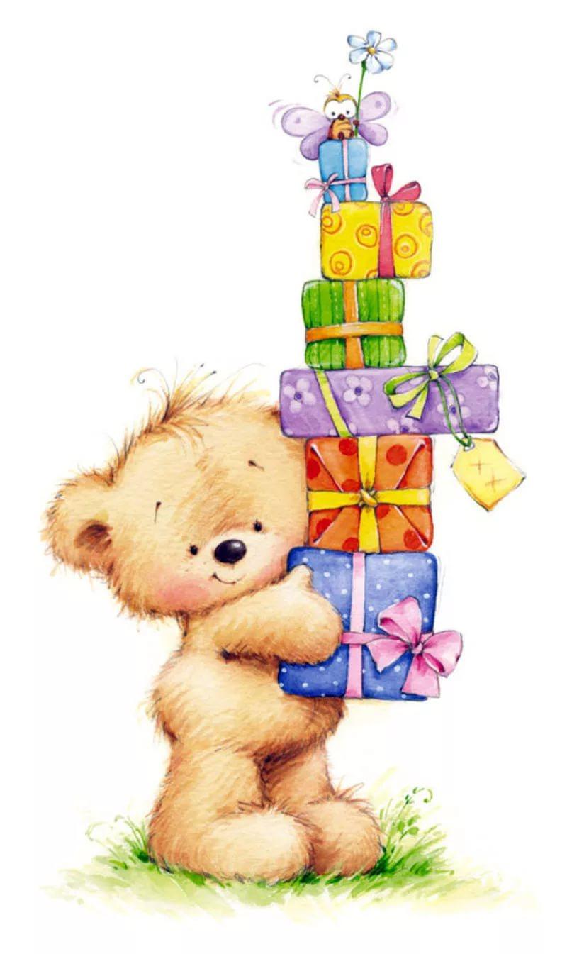 Поздравление к подарку медведь