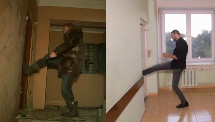 Гецати и Сафронов вышибают дверь
