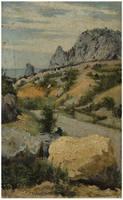 Беляев Василий Васильевич. Крымский пейзаж. 1892 г