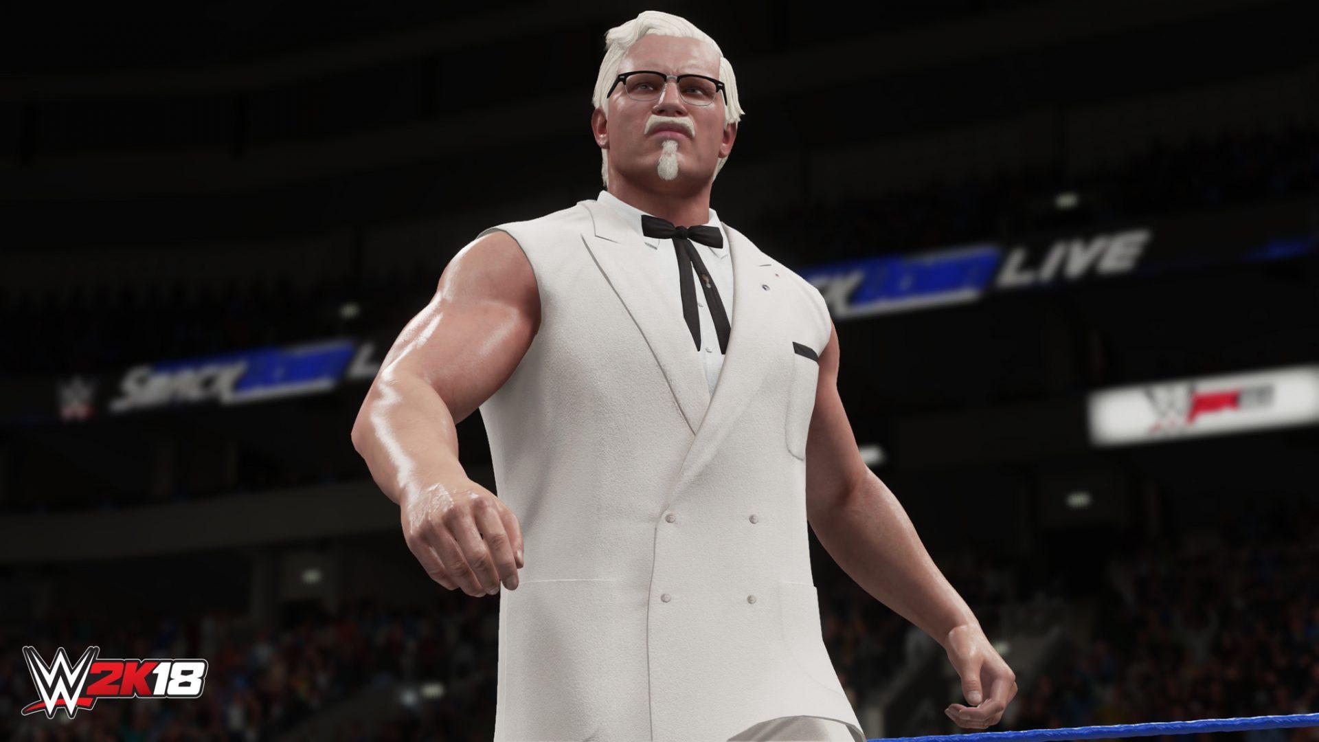 В WWE 2K18 можно будет сыграть за основателя KFC