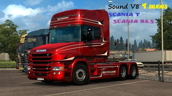 Scania 4 series V8 sound